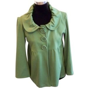NWOT New Directions Fun Green 3 Button Jacket